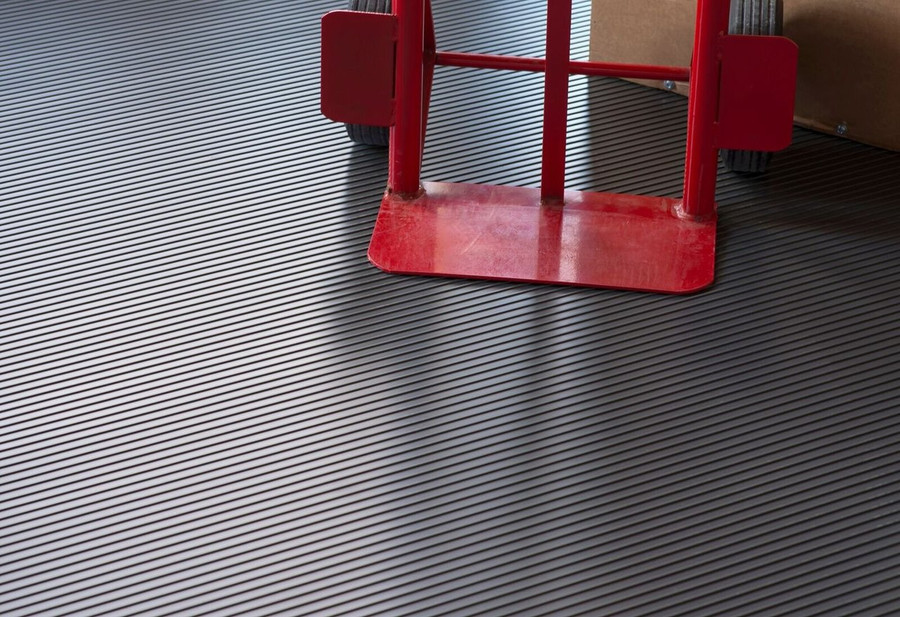 G Floor Roll Out Flooring Ribbed Midnight Black