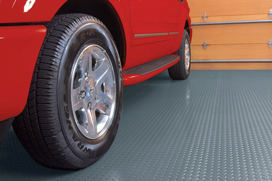 Diamond Tread Pattern, Roll Out Garage Flooring