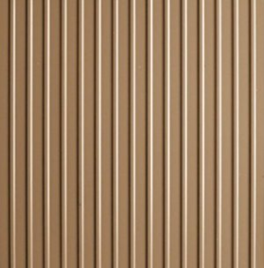 G-Floor Ribbed Pattern Rollout Floor Covering - Sandstone Tan Close Up of Material and Pattern