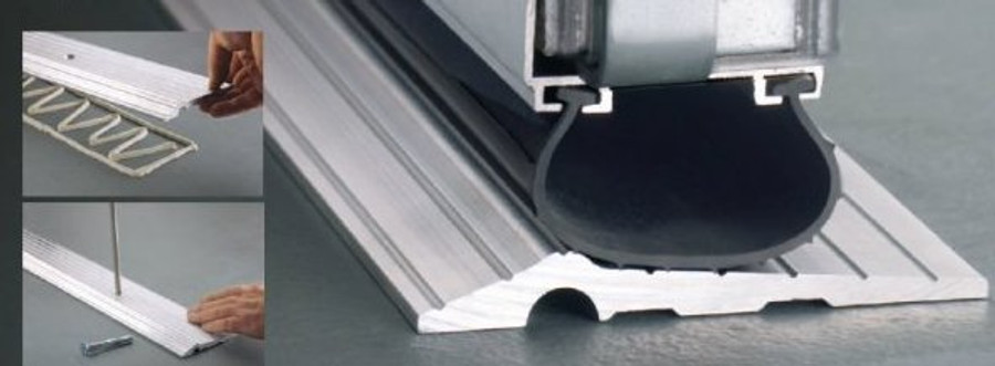 Solid Aluminum Threshold pictured. Bottom Seal not included.
