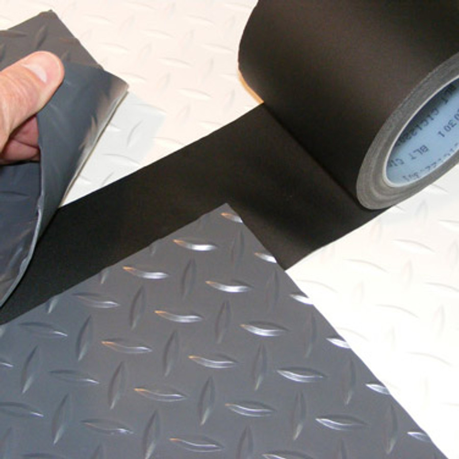 Acrylic Adhesive/Glass cloth tape seaming with black