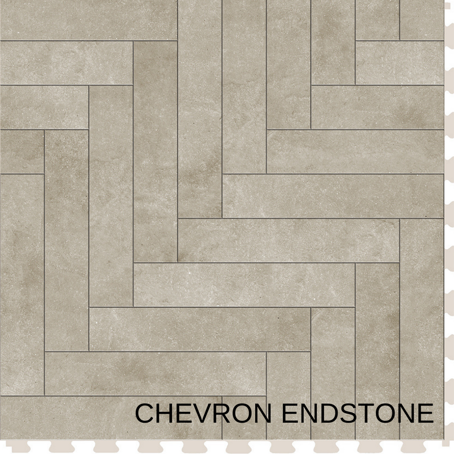 Perfection Floor Tile Natural Stone Chevron Endstone