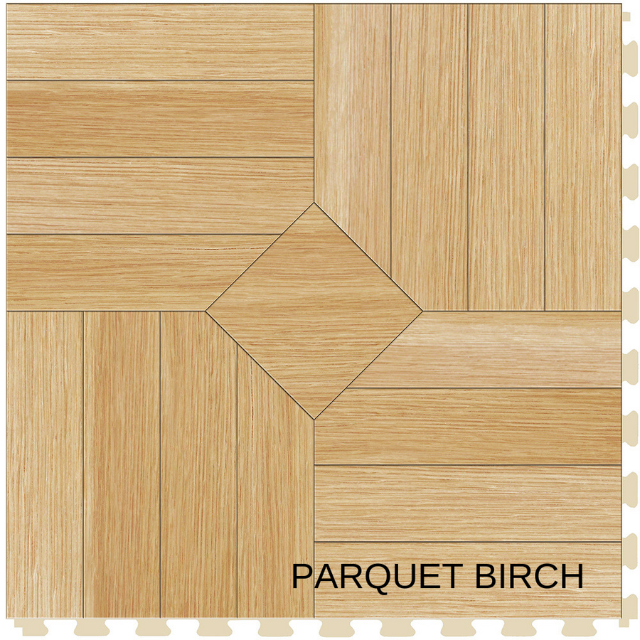 Perfection Floor Tile Natural Stone Parquet Birch