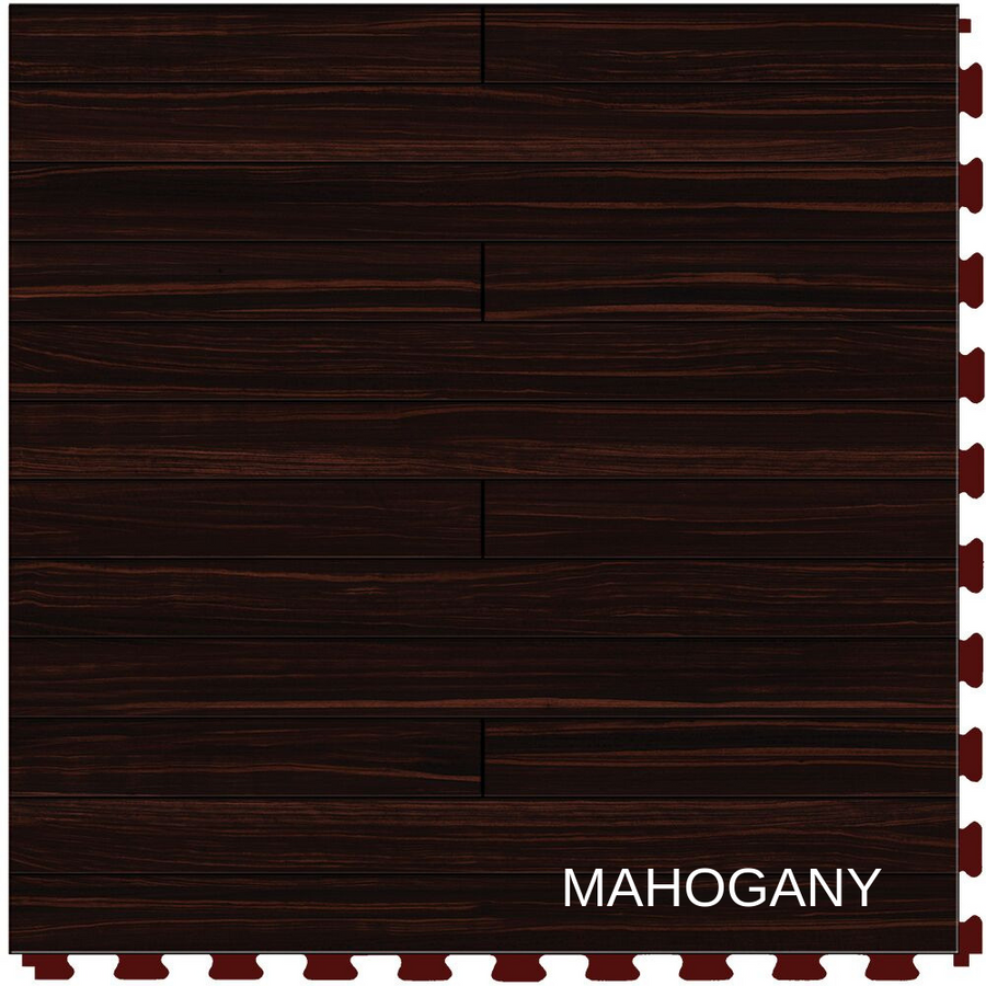 Perfection Floor Tile Natural Stone Mahogany Plank