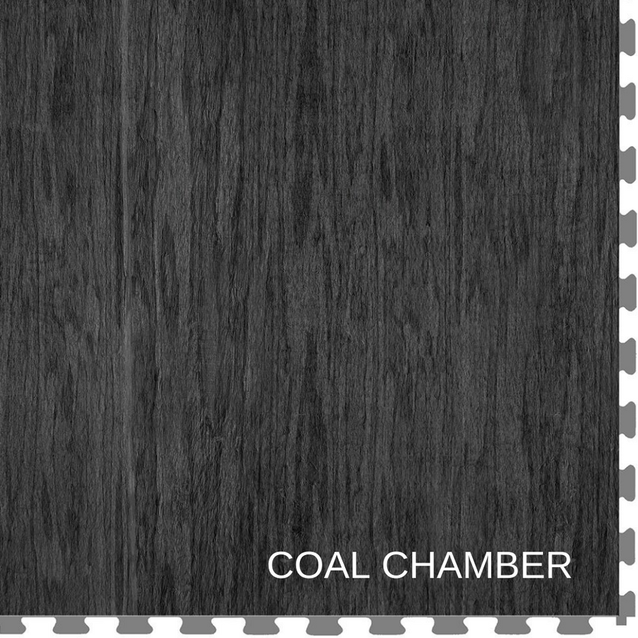 Perfection Floor Tile Wood Grain Coal Chamber