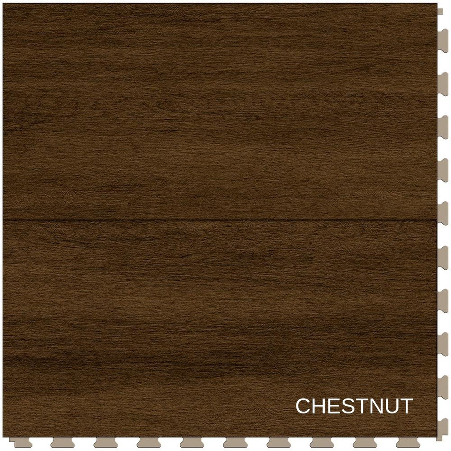 Perfection Floor Tile Wood Grain Chestnut