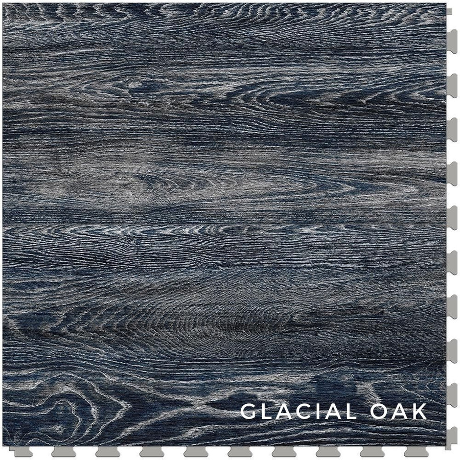 Perfection Floor Tile Wood Grain Blue Glacial Oak