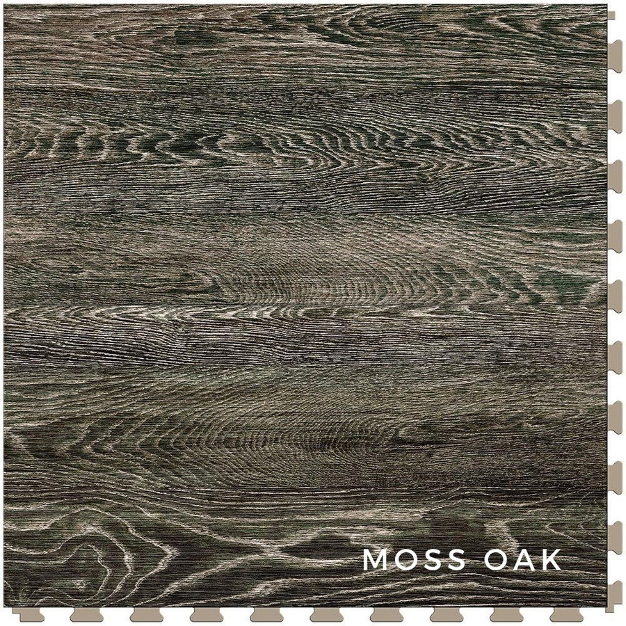 Perfection Floor Tile Wood Grain Blue Moss Oak
