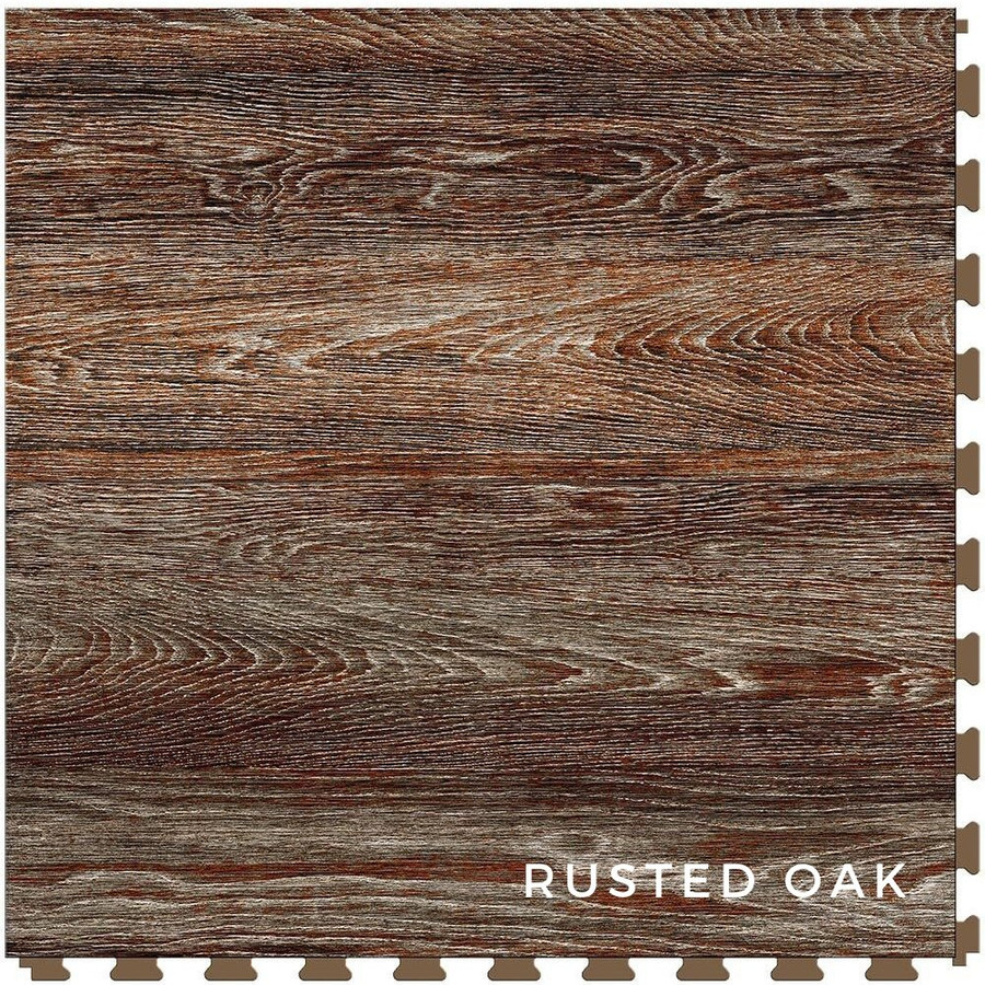 Perfection Floor Tile Wood Grain Blue Rusted Oak