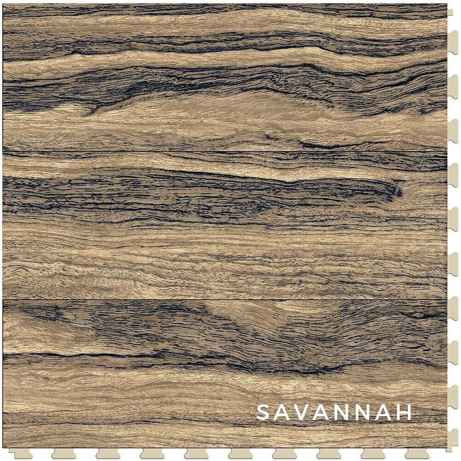 Perfection Floor Tile Wood Grain Blue Savannah