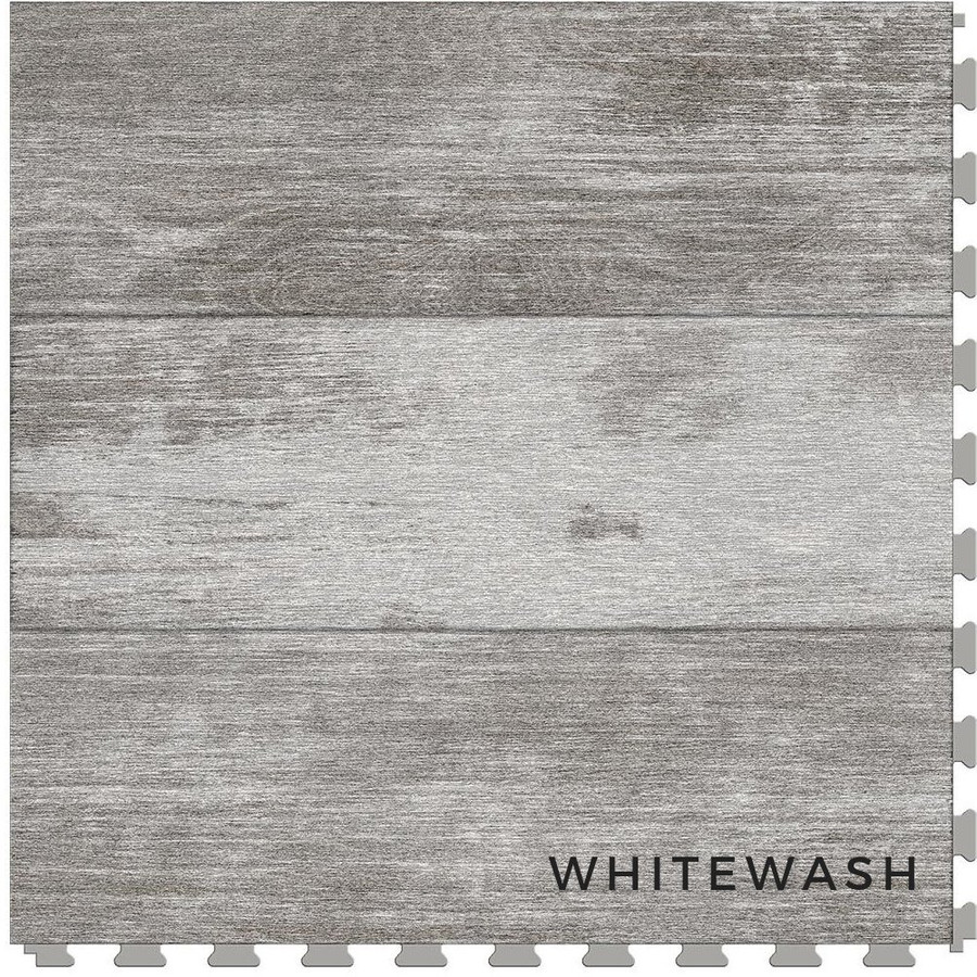 Perfection Floor Tile Wood Grain Blue Whitewash