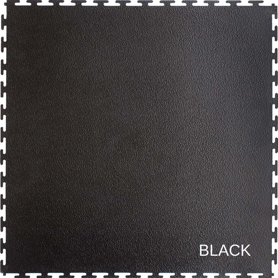 Perfection Floor Tile Smooth Texture 5MM Tiles in Black