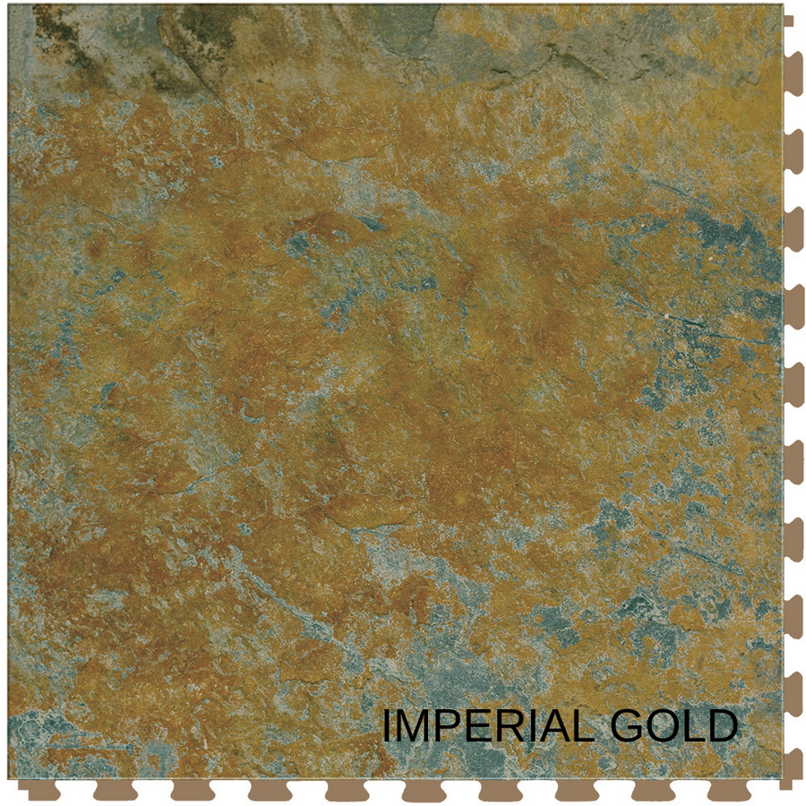 "Perfection Floor Natural Stone Tile 20"" x 20"" x 5MM (6 Per CS) - Imperial Gold"