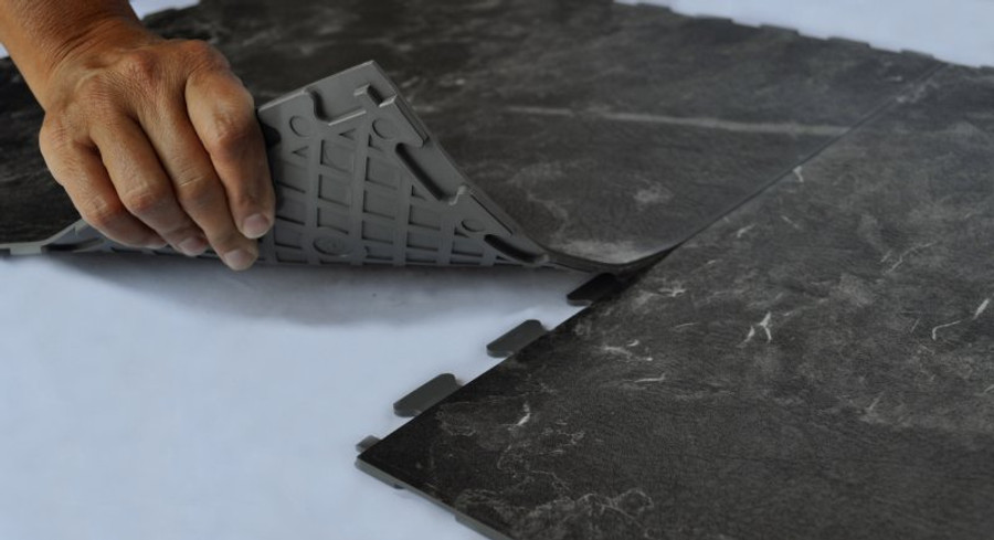 Perfection Floor Tile New England Slate Luxury Vinyl Interlocking Tiles. Natural Stone.