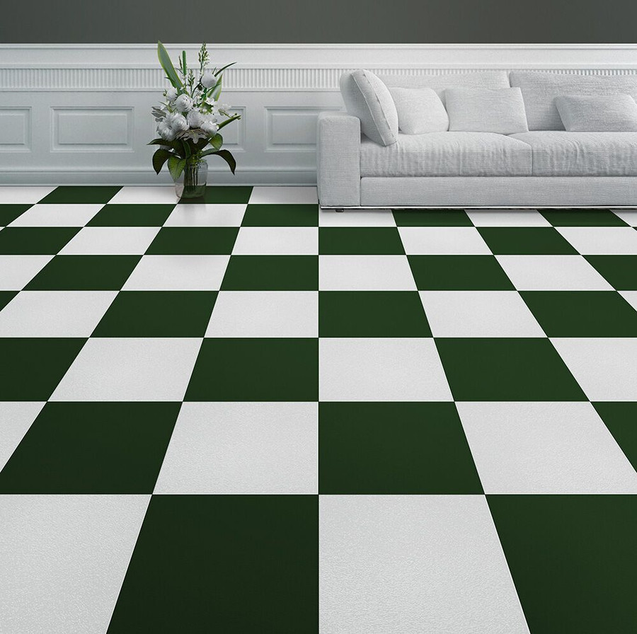 Home Style Pattern in Green used in a living room