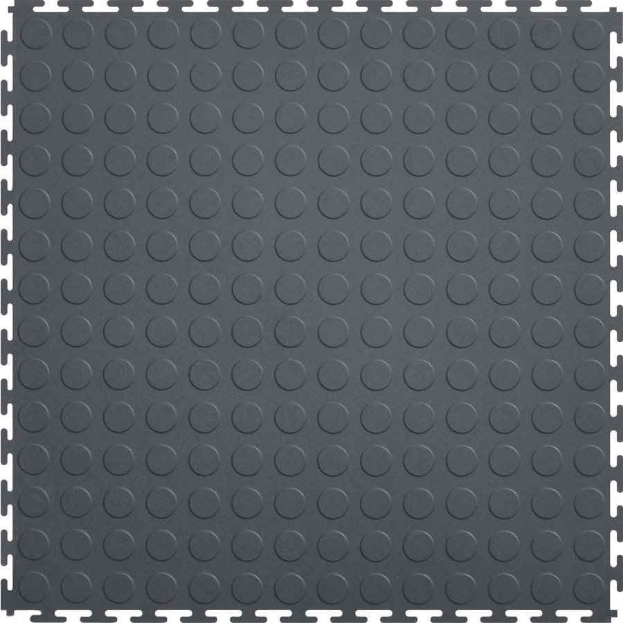 Flexi Tile by Perfection Floor Tile, Coin Pattern Dark Grey