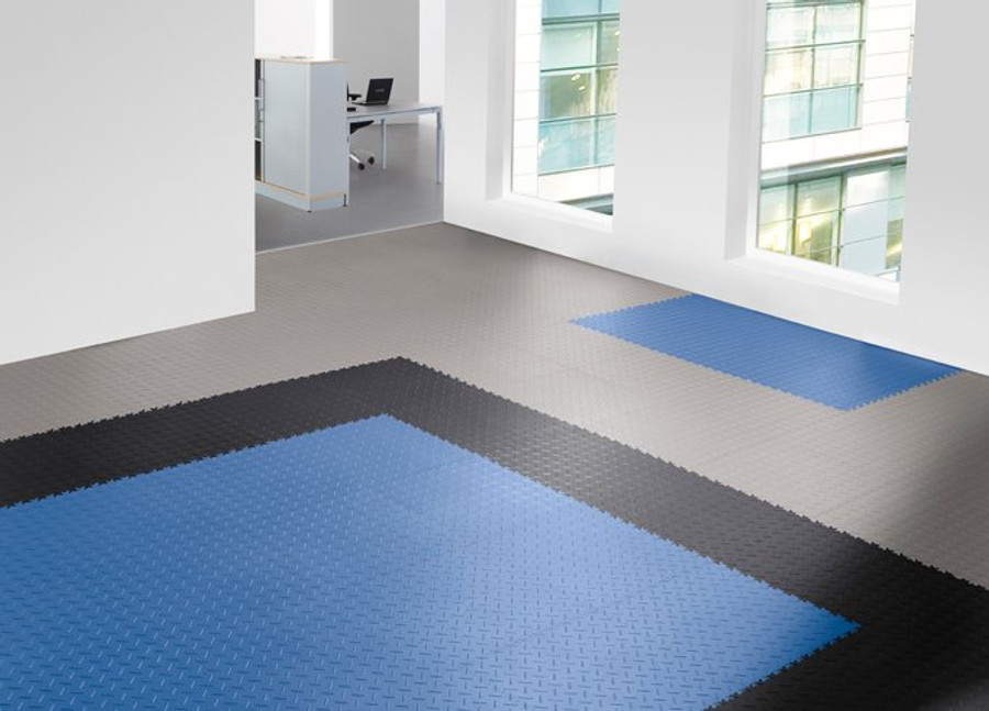 Flexi Tile by Perfection Floor Tile, Coin Blue, Flexible Tiles