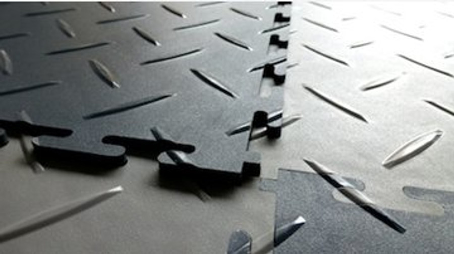 Flexi Tile Diamond Pattern Black, Perfection Floor Tiles, Flexible Tiles