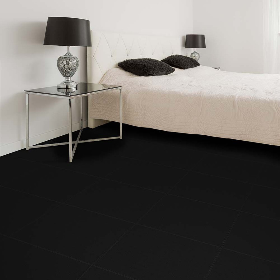 Leather Look Black Rhino used in a bedroom