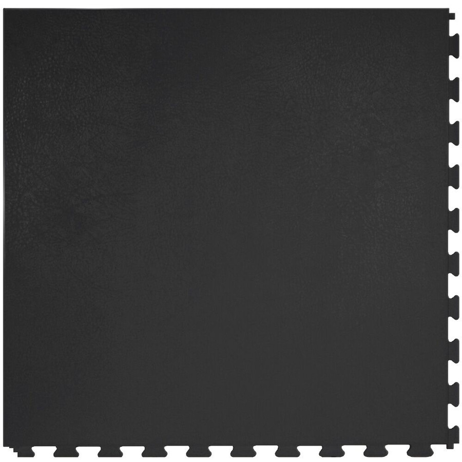 Perfection Floor Tile Leather Look Black