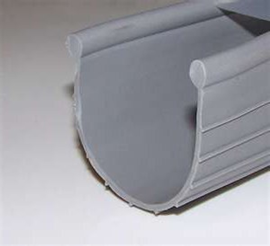 Bead End Garage Door Bottom Seal Vinyl 3 in and 4 in Grey
