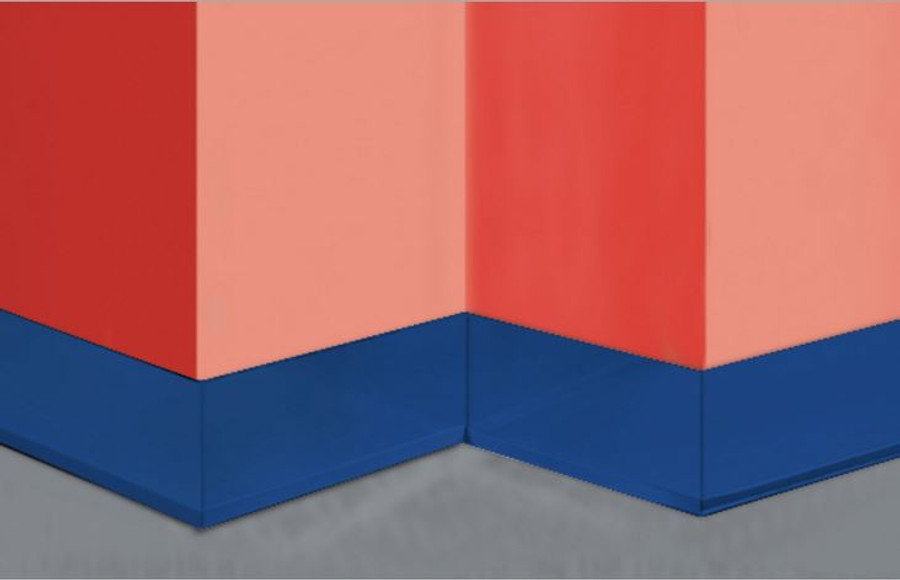 "Inside Corner Aluminum Color 18 GA, (Heights: 2"", 4"", 4-3/4"", 6"", 8"") Straight or Cove"