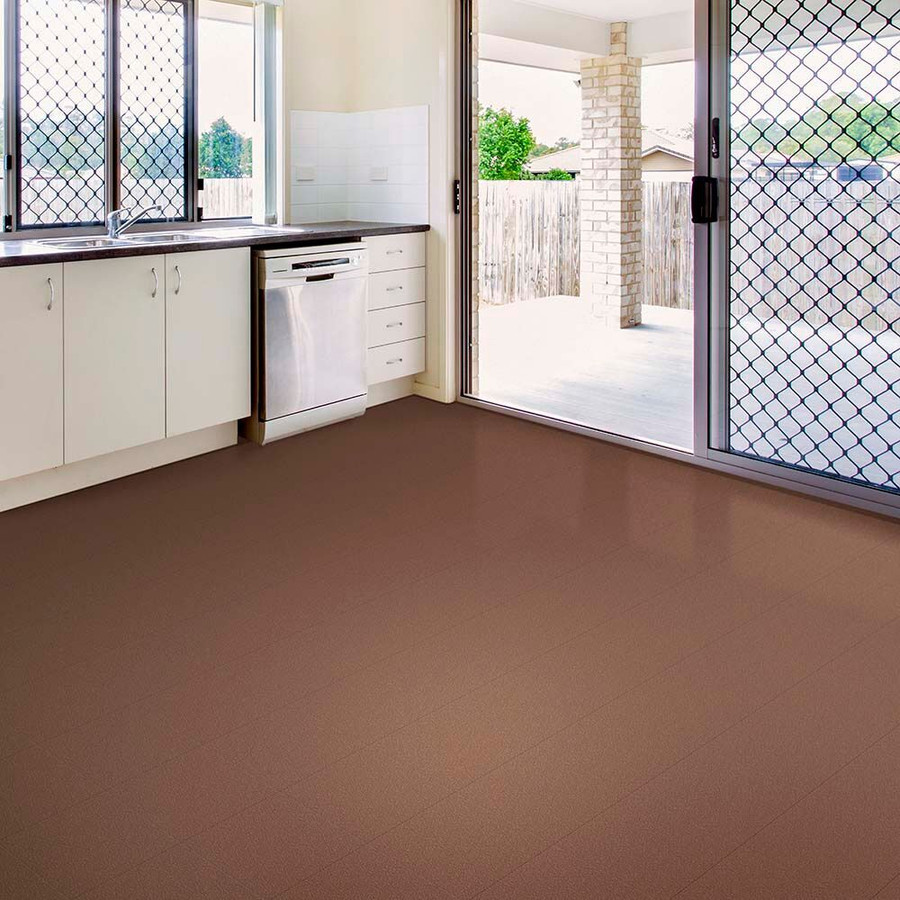 Perfection Floor Tiles HomeStyle in Chestnut used in a kitchen
