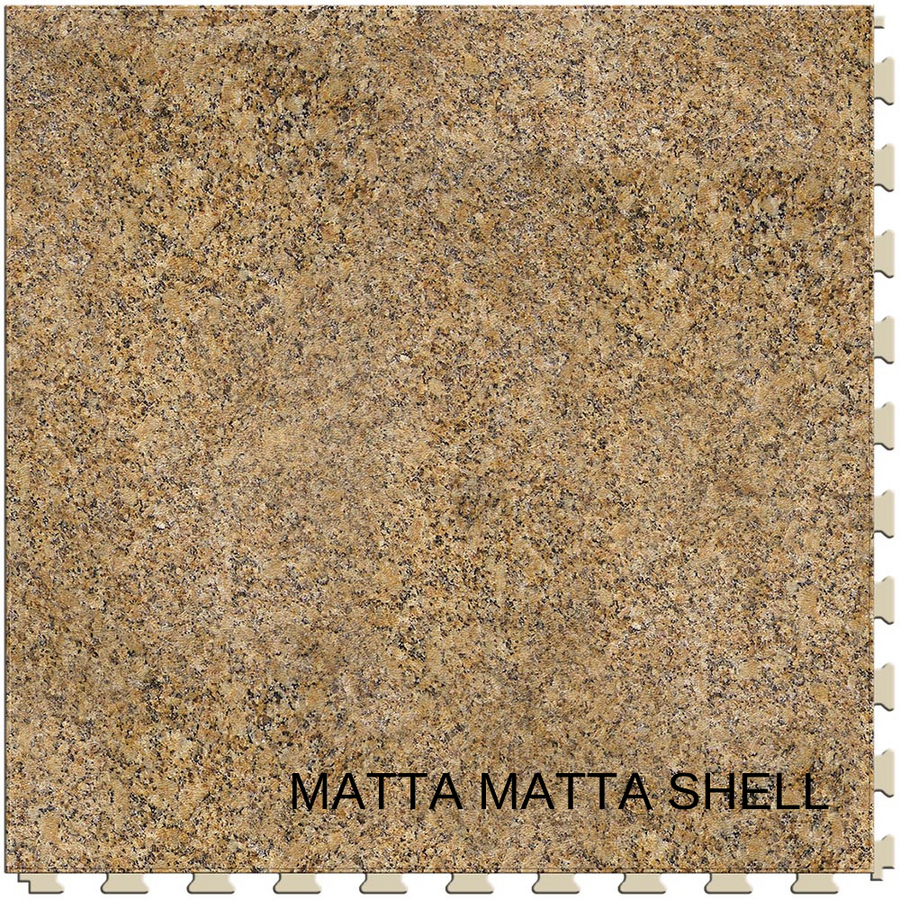 Perfection Floor Tile Natural Stone - Matta Matta Shell, Flexible Interlocking Luxury Vinyl Tile