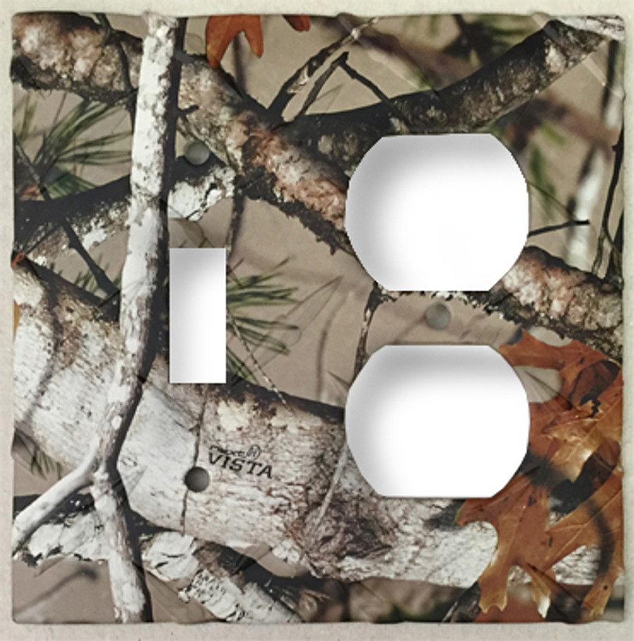 Camo Plate Aluminum Outlet Switch Cover