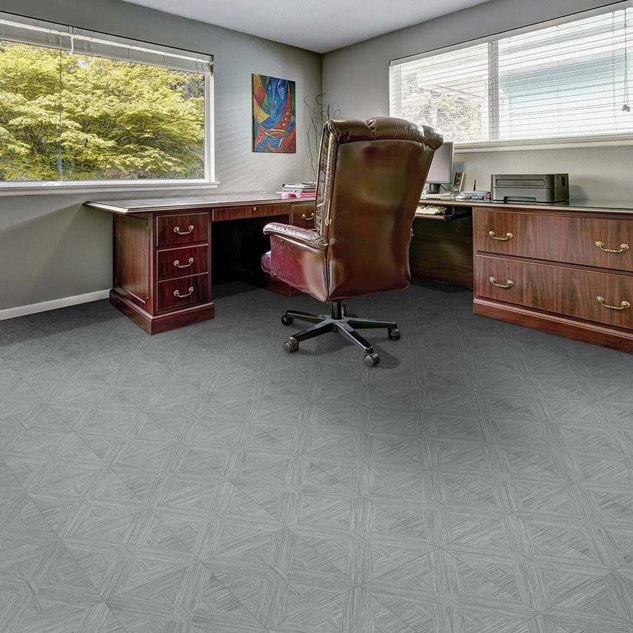 Perfection Floor Tile Wood Grain - Driftwood Bordeaux used in an office
