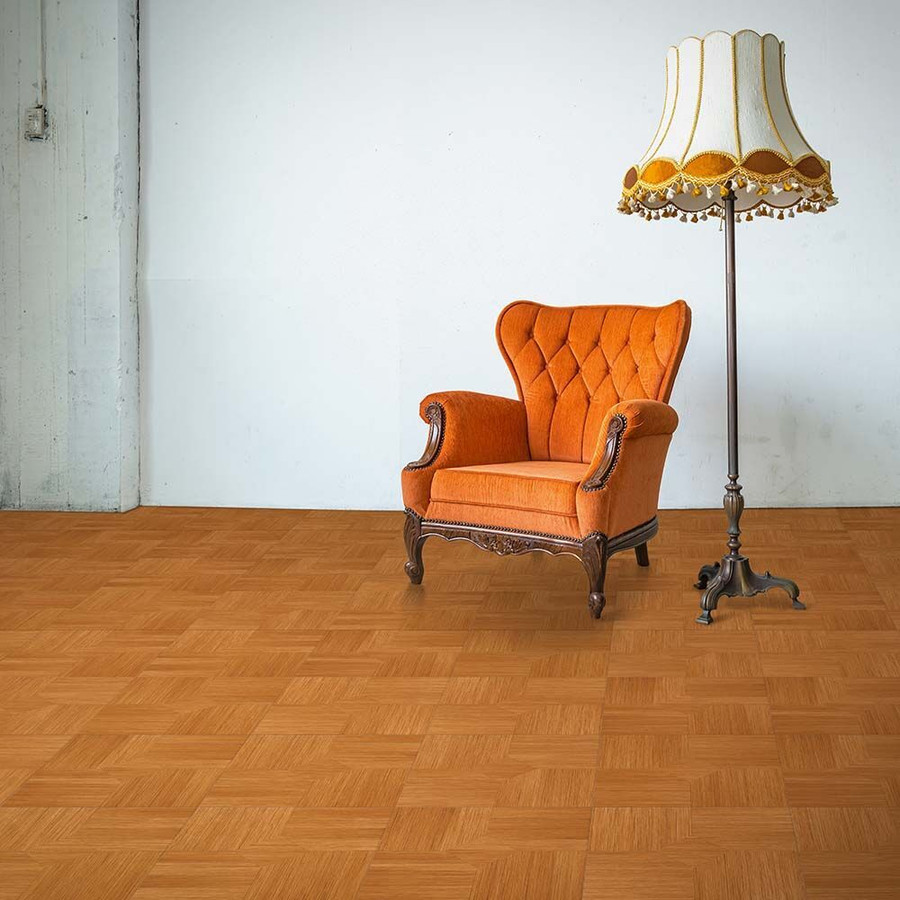 Perfection Floor Wood Grain - Maple Parquet Used in a living space