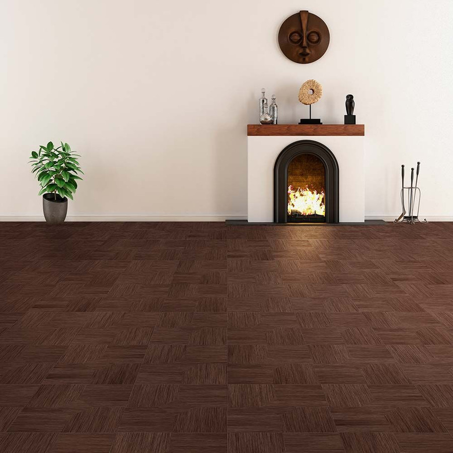 Perfection Floor Wood Grain - Walnut Parquet used in a living room