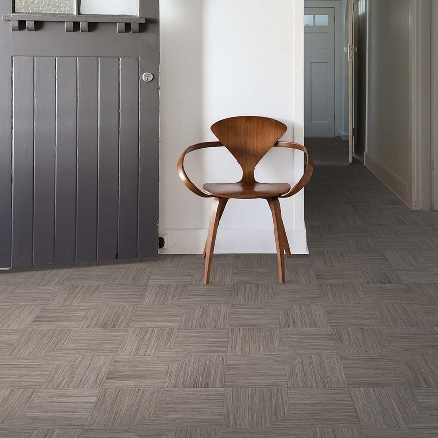 Perfection Floor Wood Grain - Driftwood Parquet used in a home entry way