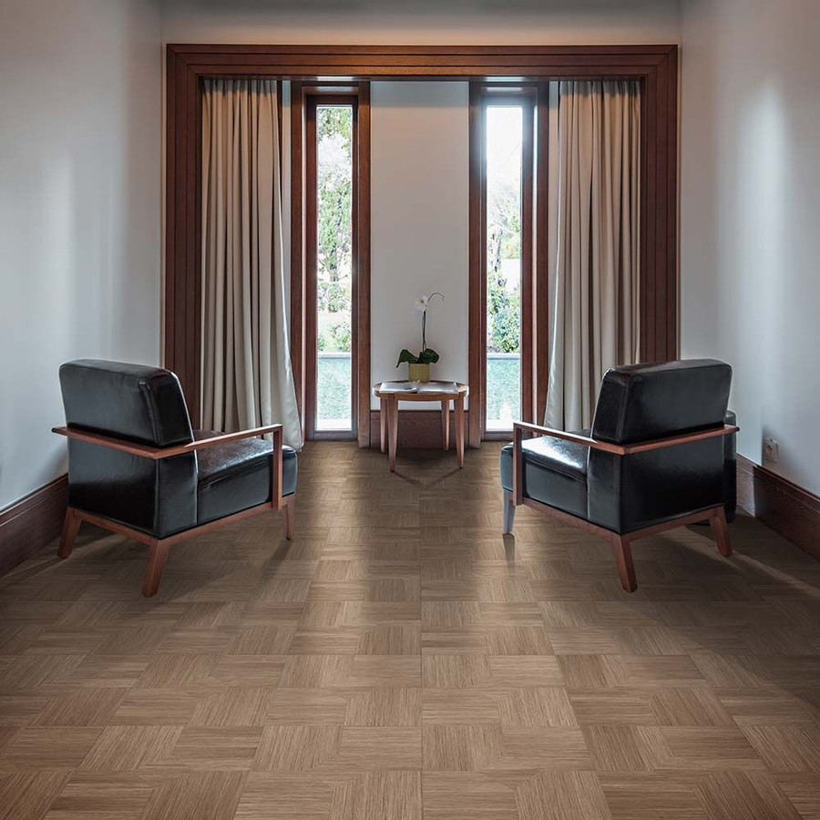 Perfection Floor Wood Grain - Elm Parquet used in a living room