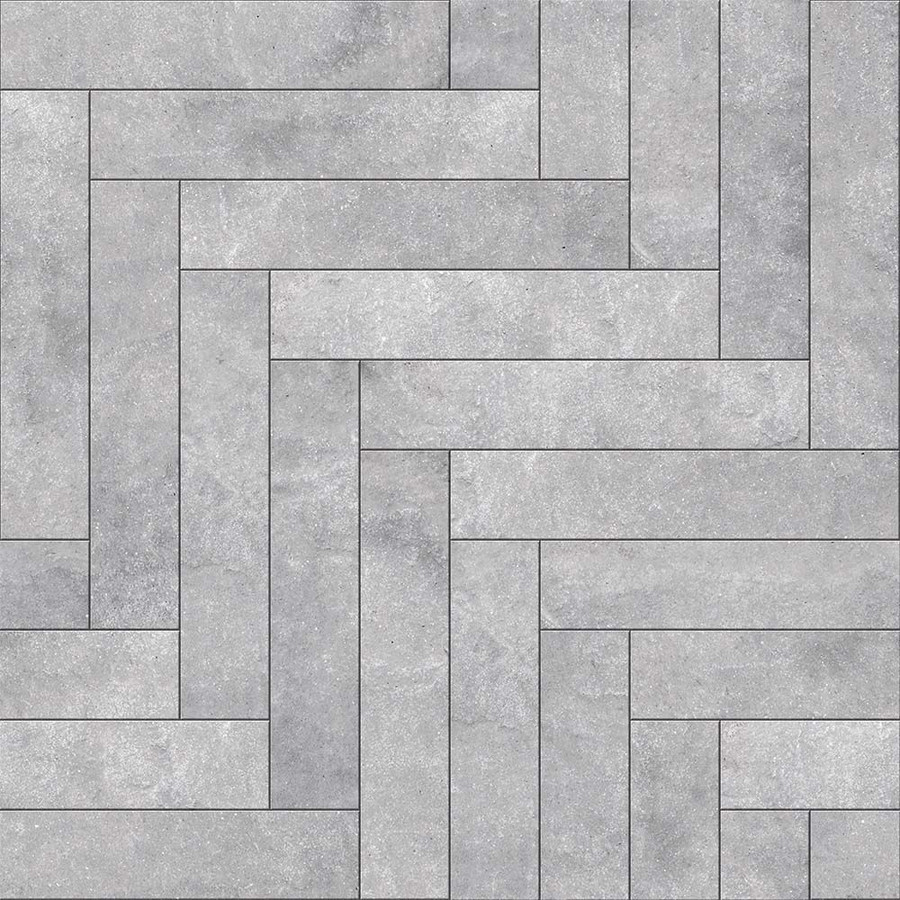 Perfection Floor Tile Flexible Interlocking Tile Chevron Graystone