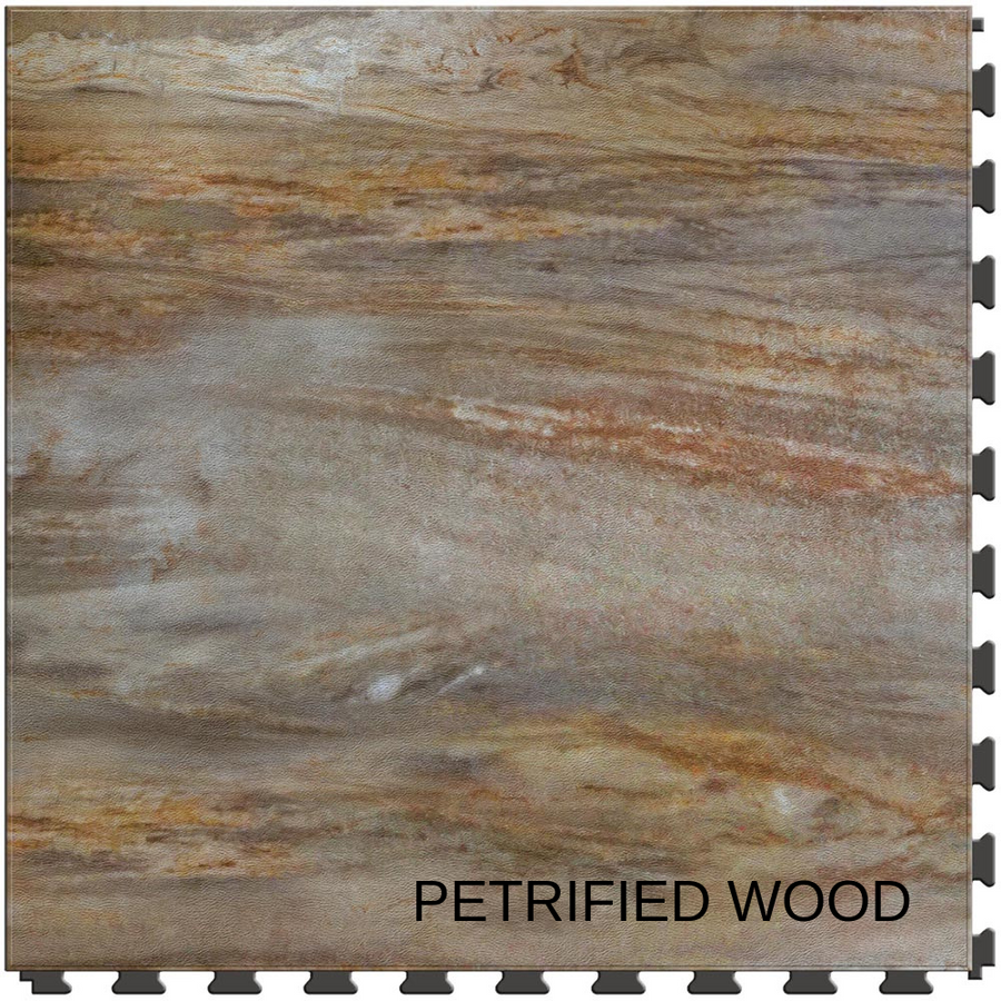 Perfection Floor Tile Natural Stone - Stone Creek Collection - Petrified Wood