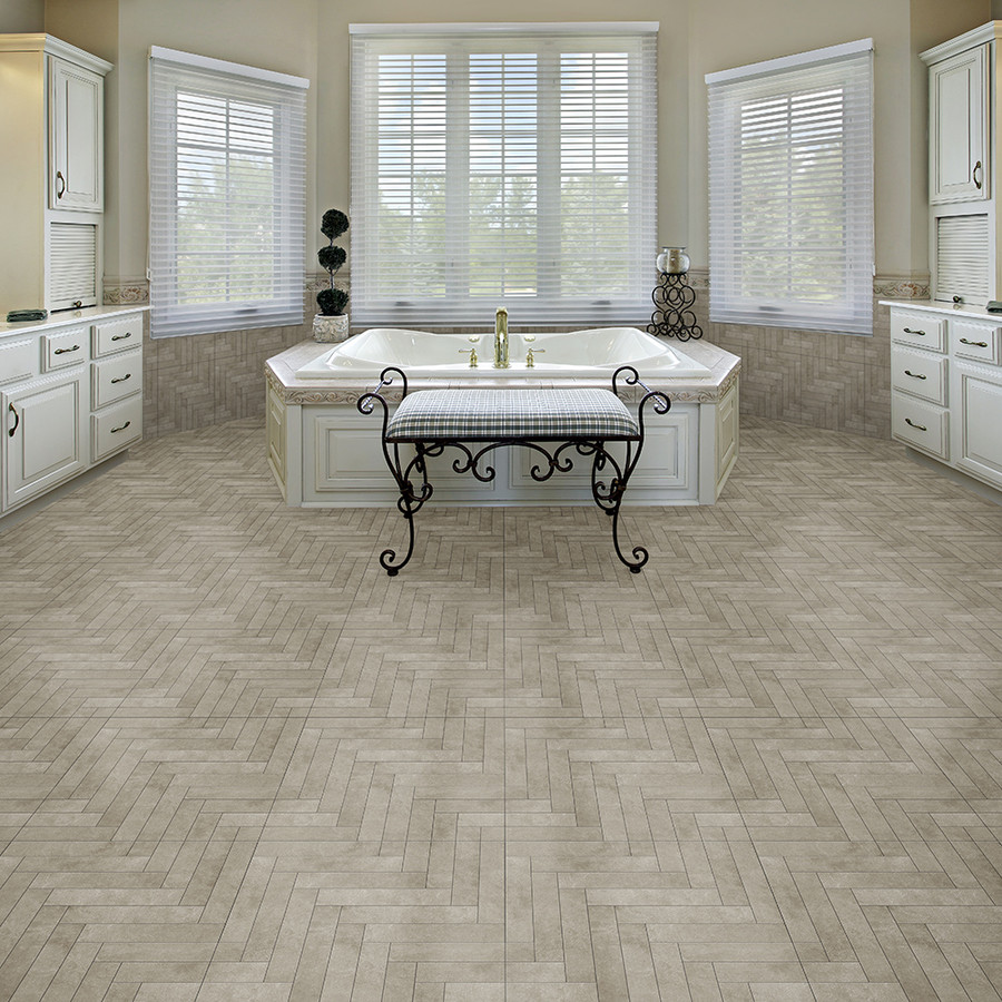 Perfection Floor Tile Natural Stone Chevron Endstone Bathroom