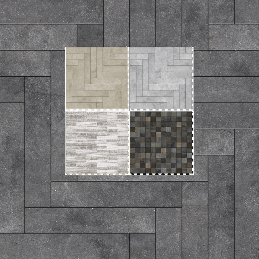 "Perfection Floor Natural Stone 20"" x 20"" x 5MM (6 Per CS) - Master Mosaic Collection"