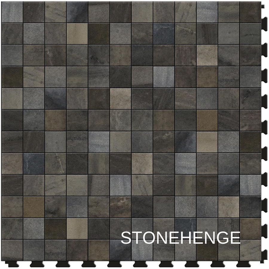 Perfection Floor Tile Natural Stone Stonehenge Mosaic Closeup