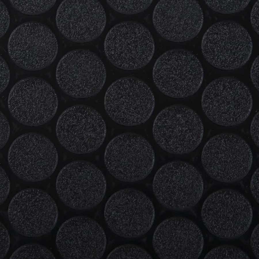 G-Floor Rollout Flooring Small Coin 60 Mil Black