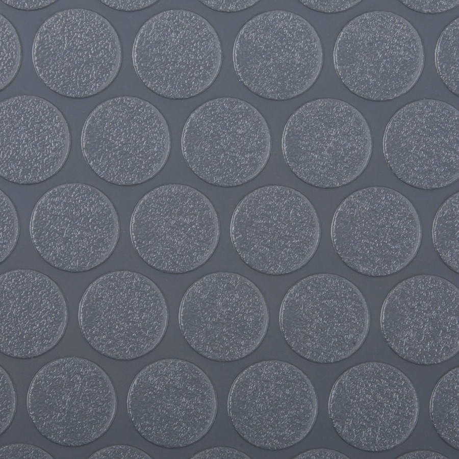 G-Floor Rollout Flooring Small Coin 60 Mil Slate Grey