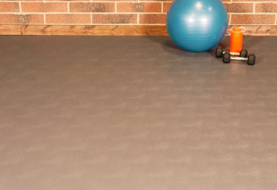 G Floor Levant Pattern gym flooring in Sandstone Tan