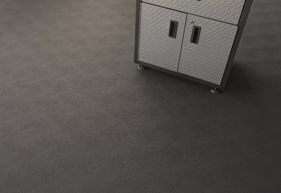 G Floor Levant Pattern Workshop flooring in Midnight Black
