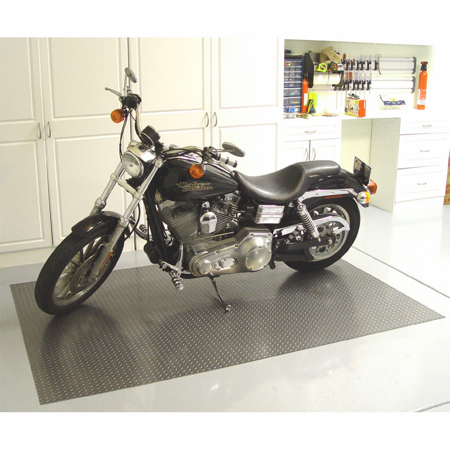 RoughTex Diamond Deck Rollout Flooring 2.9mm Overall Thickness - Motorcycle with Pewter