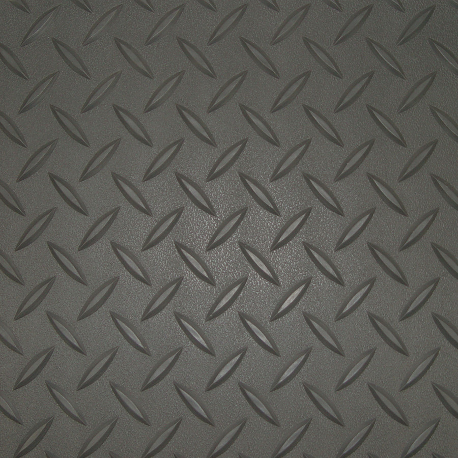 Diamond Deck Roll-out Flooring Battleship Grey Diamond Pattern