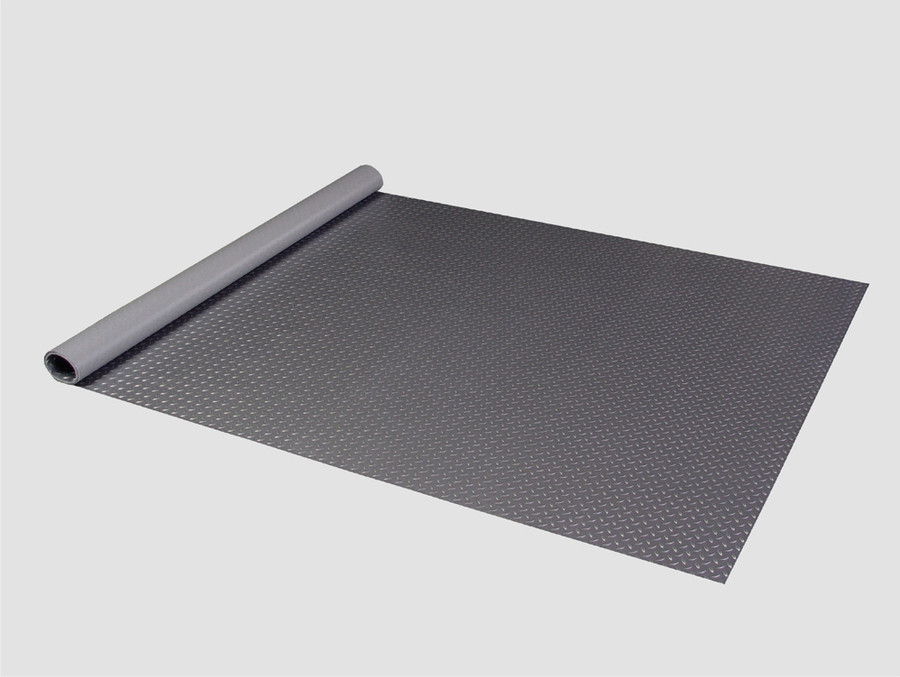 RoughTex Diamond Deck Rollout Flooring 2.9mm Overall Thickness - Charcoal Roll Out Floor
