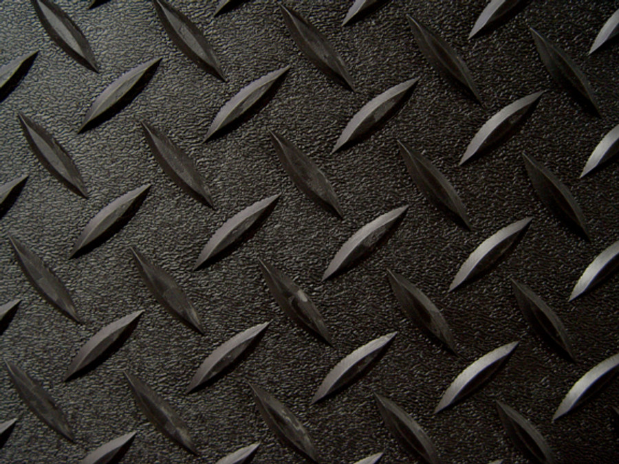 RoughTex Diamond Deck Roll-Out Flooring 2.9 mm Overall Thickness - Black Close Up