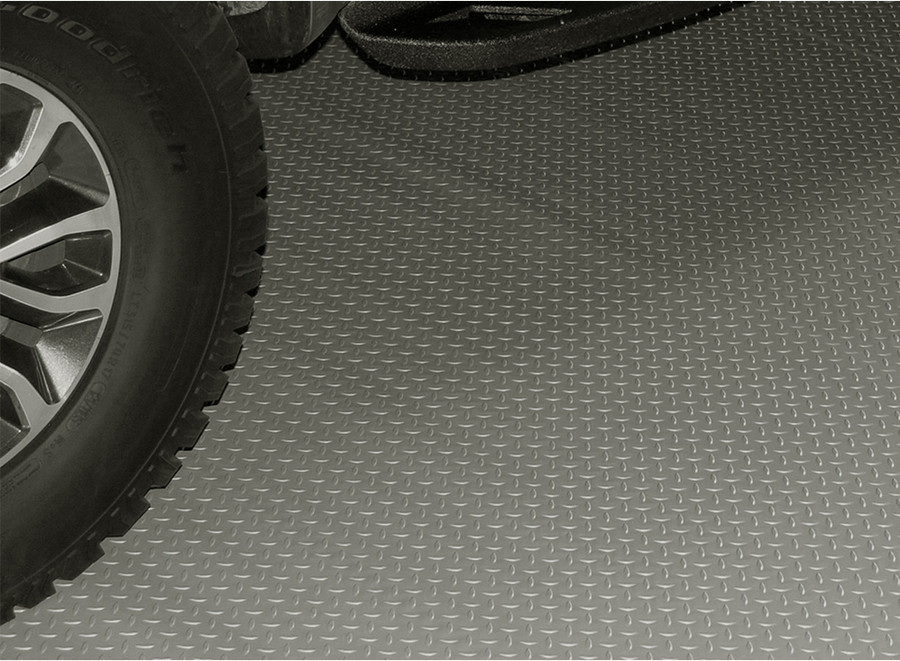 RoughTex Diamond Deck Rollout Flooring 2.9mm Overall Thickness - Pewter with Truck