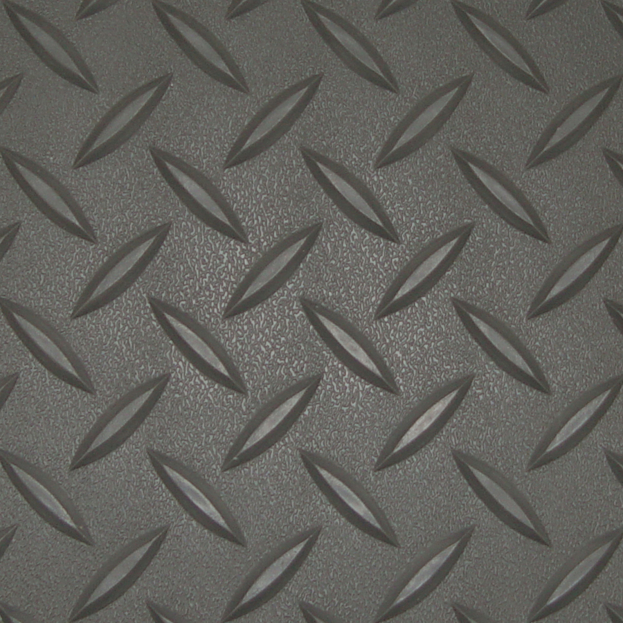 Diamond Deck Rollout Flooring Close Up of Battleship Grey Diamond Pattern
