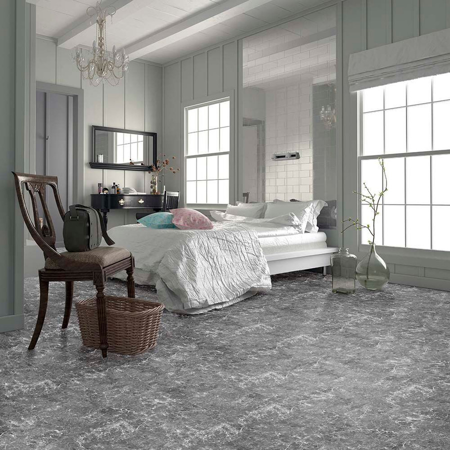 Perfection Floor Tile Natural Stone Marble Gray - bedroom flooring